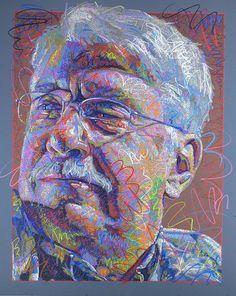"""Benj 2"" - John P. Smolko, colored pencil portrait, 2013. Amazing detail. #noveltechnique smolkoart.com"