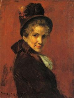 Portrait of a Woman by William Merritt Chase #art
