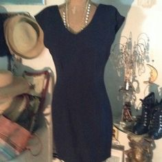 """Vintage Nina K Dress Beautiful black crepe texture rayon nylon - cap sleeves- darted front and back - so glam beautifully fitted dress 17.5"""" chest -15.5"""" waist -18.5"""" hip - 36"""" long - can make it shorter - they just don't make them like this anymore ! Neck drop back 10.5""""- neck drop front 7.5"""" , but sexy 🌹🌹🌹 Nina K  Dresses"""