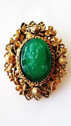 Mesmerizing Vintage Molded Green Lucite by RuthiesThisandThat, $24.00