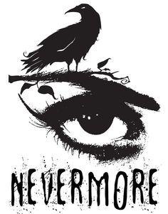 Edgar Allan Poe Inspired Design - The Raven Nevermore by Traci Hayner Vanover