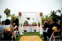 Pink Wedding Canopy.