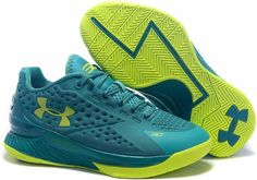 Under Armour Curry One Low Golf Scratch Green Women Shoes
