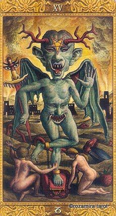 Devil Mystical Tarot Divination Cards, Tarot Cards, Satanic Art, Demon Art, Occult Art, Arte Horror, Medieval Art, Tarot Decks, Archetypes