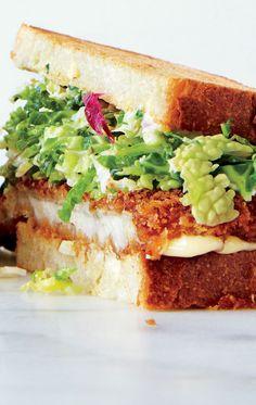 SANDWICHES - CHICKEN - Chicken Cutlet Sandwiches With Savoy Cabbage Slaw