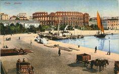 Pula 1910 Austro Hungarian, Pula, Croatia, Taj Mahal, Louvre, History, Building, Travel, Historia
