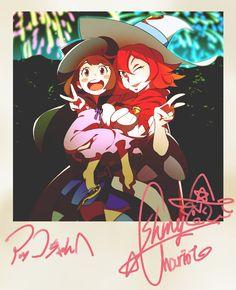 Little Witch Academia: Akko & Shiny Chariot Polaroid version by Ryouhei Fukushi