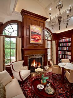 http://www.cybball.com/wp-content/uploads/2015/11/wood-curtain-rods-Living-Room-Traditional-with-arched-ceiling-arm-pads-banded-curtains-built-in-bookcase-chandelier.jpg