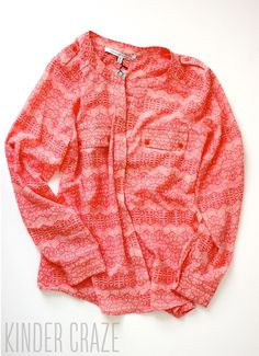 Not sure how this would look, but very cute - subtle pattern, beautiful colour.