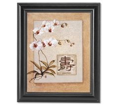 Long Life Asian Feng Shui Flower Floral Wall Picture Framed Art Print -- Click on the image for additional details.