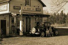 station-service dans les années 30