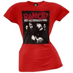 Rancid - Let the Dominoes Fall Juniors T-Shirt Large Red by Old GloryTake for me to see Rancid - Let the Dominoes Fall Ju
