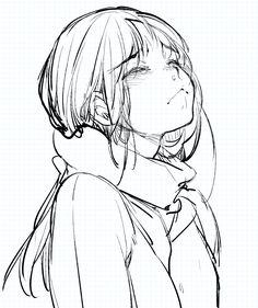 Pin by victor nikiforov on sketches in 2019 anime sketch, anime art, manga Cry Drawing, Drawing Poses, Manga Drawing, Crying Girl Drawing, Drawing Tips, Anime Girl Crying, Crying Girl Sketch, Manga Girl Sad, Drawing Ideas