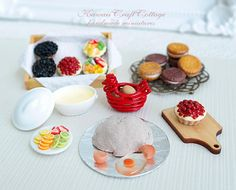 1:6 Scale Miniature Food Pastry Bakery by KawaiiCraftCottage