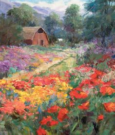 "<span style=""text-align: left"">Artist: Eric K. Wallis<BR> Title: ""Flowers Around""<BR> Media: Oil/Linen<BR> Size: 30x24 in </span>"