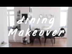 Esszimmer Makeover - YouTube Neon Signs, Calligraphy, Interior, Youtube, How To Make, Dining Rooms, Essen, Lettering, Indoor