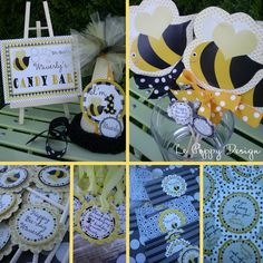 Bumble Honey Bee Birthday Party Decorations by LePoppyDesign, $145.00