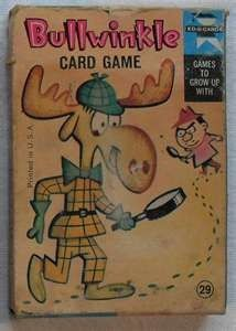 board games from the 1960's | Bullwinkle Card Game 1960s