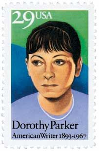 Dorothy Parker, 1893-1967, (U.S.) poet, short-story writer. Enough Hope, Laments for the Living. Commemorate with a 29c Dorothy Parker, Literary Arts Series stamp issued August 22, 1992 in West End, New Jersey. Catalog # 2698.