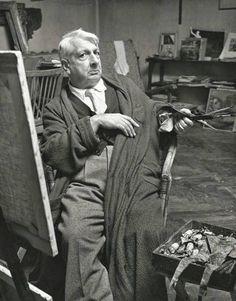 Giorgio de Chirico nel suo studio di Roma, 1951 (Magnum Photos, foto di Herbert List)