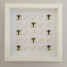 "Image of Daisies and Bees - 9"" sq."