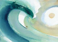 """Alone"" watercolour surf"