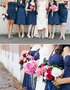 Bridesmaids in Navy!