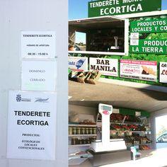 El tenderete de Ecortiga donde podréis comprar productos ecológicos y locales... Casa rural los abuelos de Mengabril, extremadura.