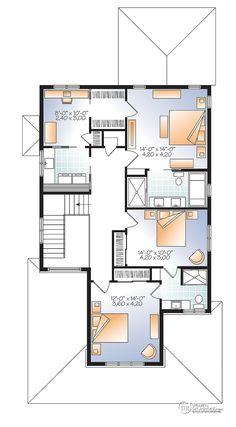 Détail du plan de Maison unifamiliale W2889-V1