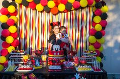 Happy Birthday B, 2 Birthday, Mickey 1st Birthdays, Mickey Mouse First Birthday, Mickey Mouse Baby Shower, Mickey Mouse Clubhouse Birthday Party, 1st Birthday Parties, Birthday Ideas, Mickey Mouse Birthday Decorations