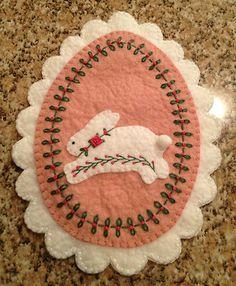 Wool Felt Votive candle mat