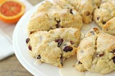 Cranberry Scones with Orange Glaze.