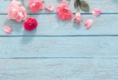 Wood Backdrops Wooden Backdrop Blue Backgrounds Pink Flower HJ05007