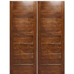 Modern Architectural Doors Model Modern Mahogany double entry doors with deep grooves. Customize the double doors for your home today! Wood Entry Doors, Wood Exterior Door, Double Front Doors, Front Entry, Victorian Front Doors, Contemporary Doors, Unique Photo, Modern Architecture, Model