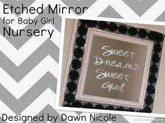 DIY Etched Mirror Tutorial