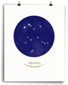 Gemini Print - Constellation Art