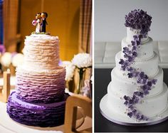 wedding cakes purple purple fancy modern www. Fancy Wedding Cakes, Wedding Cakes With Cupcakes, Diy Wedding, Cupcake Cakes, Wedding Photos, Dream Wedding, Engagement Couple, Themed Cakes, Let Them Eat Cake