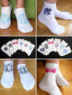 ✥ MONOGRAMS • MONOGRAMS • MONOGRAMS!! ✥ The PERFECT grad gift or big/little sugar from Sockprints! Soooooo cute & custom with your greek letters or personal initials!! XOXO https://www.etsy.com/shop/SockprintsOnEtsy