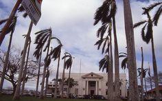 Hurricane Iniki and Kauai, circa 1992.