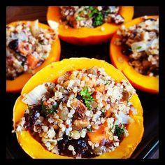 Quinoa recipes - Each half of the squash would be a serving