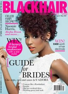 Blackhair magazine cover 218x300 Long spiral curls are always in vogue!