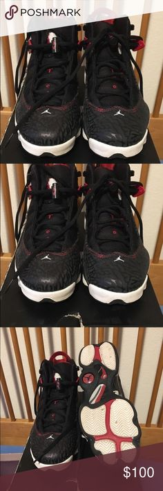 JORDAN 6 RINGS Red black and white... worn 5 times 6.5 equivalent to 8 women's Shoes Sneakers