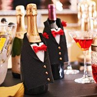 Create a Champagne-Bottle Tuxedo
