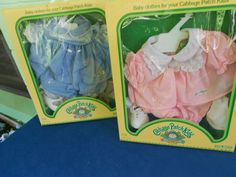 VINTAGE 1983 CABBAGE PATCH KIDS OUTFITS CLOTHES /SHOES & Socks IN BOX (LOT OF 2)