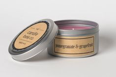 Soy Candle  Pomegranate & Grapefruit