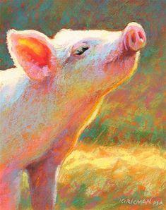 "Daily Paintworks - ""Pippi - day 18"" - Original Fine Art for Sale - © Rita Kirkman"