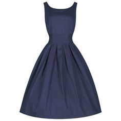 Sleeveless Scoop Collar Solid Color Women's Midi Dress (PURPLISH BLUE,L) in Vintage Dresses | DressLily.com