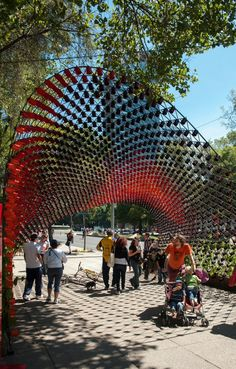 'Portal of Awareness' installation in Mexico City using 1,500 coffee mugs : Rojkind Arquitectos