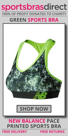 The low-profile design, feminine details and medium-impact support of the NB Pace Bra make this fitness staple equal parts style and performance. The Pace Printed Green Sports Bra by New Balance with its compression fit will keep you comfortable during the toughest of workouts. Shop Now! #bra #sportsbra #green #greenbra #greensportsbra