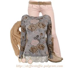 Floral Lace Top, created by steffiestaffie on Polyvore